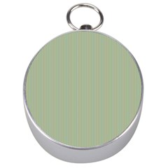 Background Pattern Green Silver Compasses