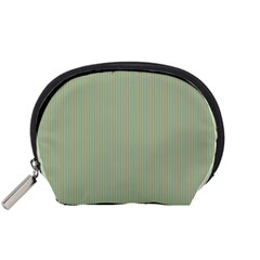 Background Pattern Green Accessory Pouches (small)