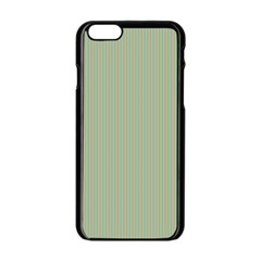 Background Pattern Green Apple iPhone 6/6S Black Enamel Case