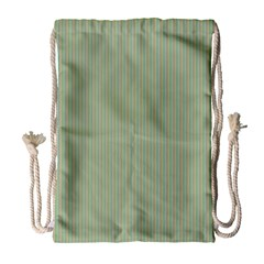 Background Pattern Green Drawstring Bag (Large)