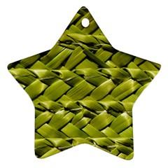 Basket Woven Braid Wicker Ornament (Star)