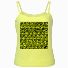 Basket Woven Braid Wicker Yellow Spaghetti Tank