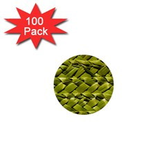 Basket Woven Braid Wicker 1  Mini Buttons (100 Pack)