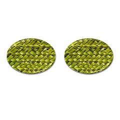 Basket Woven Braid Wicker Cufflinks (oval)