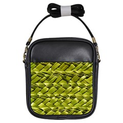 Basket Woven Braid Wicker Girls Sling Bags