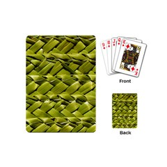 Basket Woven Braid Wicker Playing Cards (mini)