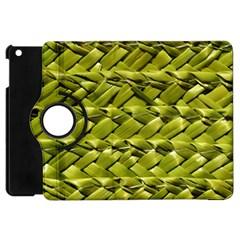 Basket Woven Braid Wicker Apple iPad Mini Flip 360 Case