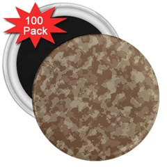 Camouflage Tarn Texture Pattern 3  Magnets (100 pack)