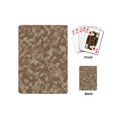 Camouflage Tarn Texture Pattern Playing Cards (Mini)