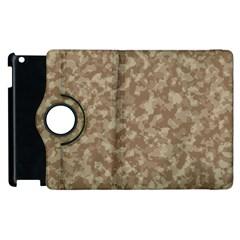 Camouflage Tarn Texture Pattern Apple iPad 3/4 Flip 360 Case