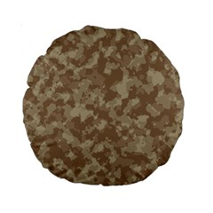 Camouflage Tarn Texture Pattern Standard 15  Premium Round Cushions