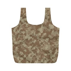 Camouflage Tarn Texture Pattern Full Print Recycle Bags (M)
