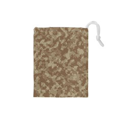 Camouflage Tarn Texture Pattern Drawstring Pouches (Small)