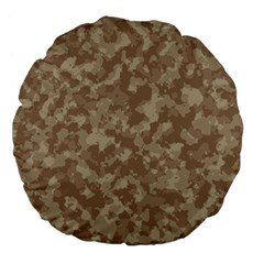 Camouflage Tarn Texture Pattern Large 18  Premium Flano Round Cushions