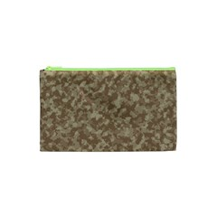Camouflage Tarn Texture Pattern Cosmetic Bag (XS)