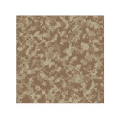 Camouflage Tarn Texture Pattern Small Satin Scarf (Square)