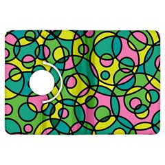 Circle Background Background Texture Kindle Fire Hdx Flip 360 Case