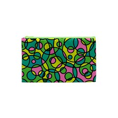 Circle Background Background Texture Cosmetic Bag (XS)