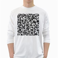 Camouflage Tarn Texture Pattern White Long Sleeve T-Shirts