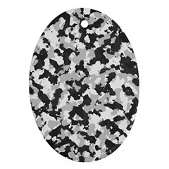 Camouflage Tarn Texture Pattern Oval Ornament (Two Sides)