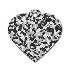 Camouflage Tarn Texture Pattern Dog Tag Heart (One Side)