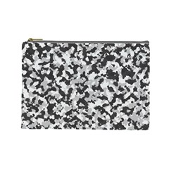 Camouflage Tarn Texture Pattern Cosmetic Bag (large)