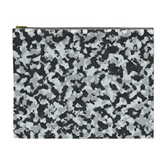 Camouflage Tarn Texture Pattern Cosmetic Bag (XL)