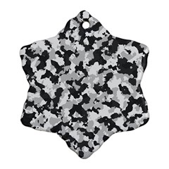 Camouflage Tarn Texture Pattern Snowflake Ornament (Two Sides)