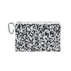 Camouflage Tarn Texture Pattern Canvas Cosmetic Bag (S)