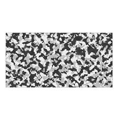 Camouflage Tarn Texture Pattern Satin Shawl