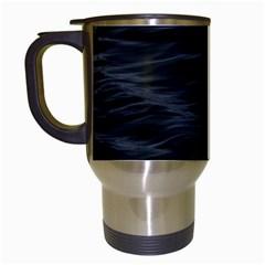 Dark Lake Ocean Pattern River Sea Travel Mugs (white)