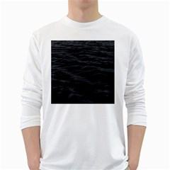 Dark Lake Ocean Pattern River Sea White Long Sleeve T-Shirts