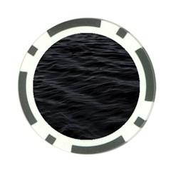Dark Lake Ocean Pattern River Sea Poker Chip Card Guard (10 pack)