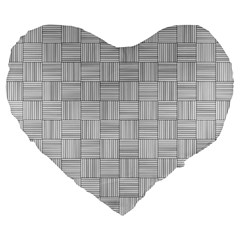 Flooring Household Pattern Large 19  Premium Flano Heart Shape Cushions