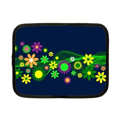 Flower Power Flowers Ornament Netbook Case (small)