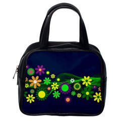 Flower Power Flowers Ornament Classic Handbags (One Side)