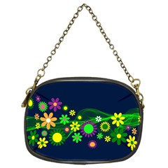 Flower Power Flowers Ornament Chain Purses (Two Sides)