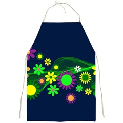Flower Power Flowers Ornament Full Print Aprons