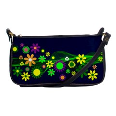 Flower Power Flowers Ornament Shoulder Clutch Bags