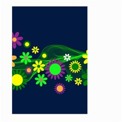 Flower Power Flowers Ornament Large Garden Flag (two Sides)