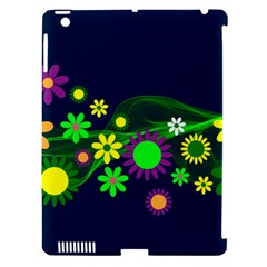 Flower Power Flowers Ornament Apple iPad 3/4 Hardshell Case (Compatible with Smart Cover)