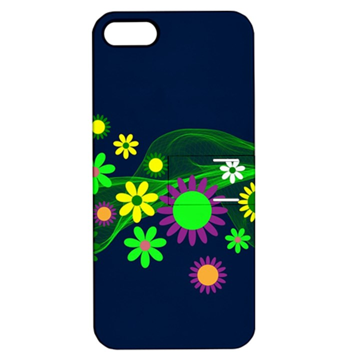 Flower Power Flowers Ornament Apple iPhone 5 Hardshell Case with Stand