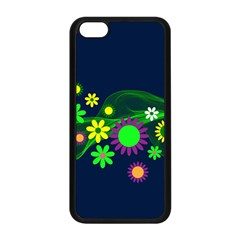 Flower Power Flowers Ornament Apple iPhone 5C Seamless Case (Black)
