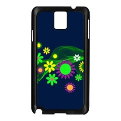 Flower Power Flowers Ornament Samsung Galaxy Note 3 N9005 Case (Black)