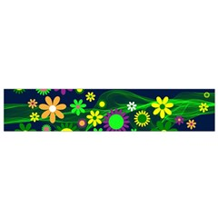 Flower Power Flowers Ornament Flano Scarf (Small)