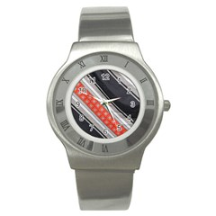 Bed Linen Microfibre Pattern Stainless Steel Watch