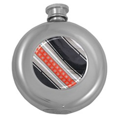 Bed Linen Microfibre Pattern Round Hip Flask (5 oz)
