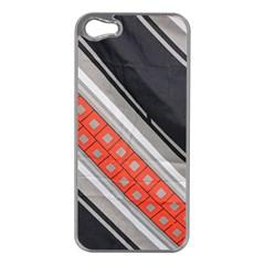 Bed Linen Microfibre Pattern Apple Iphone 5 Case (silver)