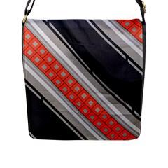 Bed Linen Microfibre Pattern Flap Messenger Bag (L)