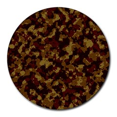 Camouflage Tarn Forest Texture Round Mousepads